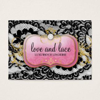 Placa cor-de-rosa de 311 Laços de Luxe Pródigo Cartão De Visitas