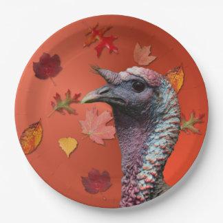 Placa da acção de graças de Turquia Prato De Papel