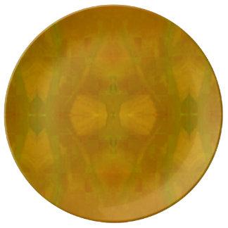 Placa da louça na aranha amarela