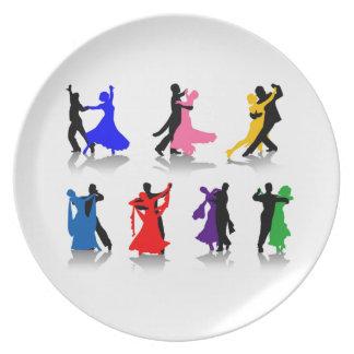 Placa da melamina da dança de salão de baile pratos