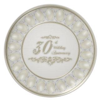 Placa da melamina do aniversário de casamento da pratos