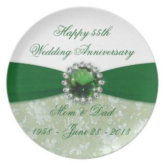 Placa da melamina do aniversário de casamento do louça de jantar