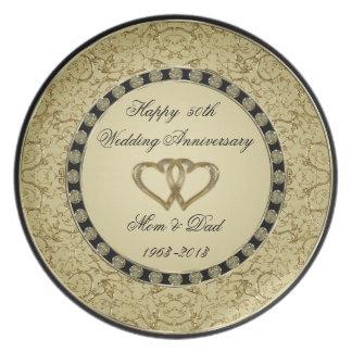 Placa da melamina do aniversário de casamento prato