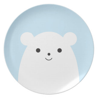 Placa da melamina do urso polar do Peekaboo Pratos