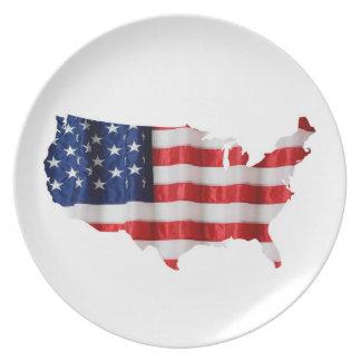 Placa da melamina dos Estados Unidos Prato De Festa