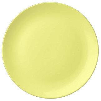 Placa da porcelana - amarelo pratos de porcelana