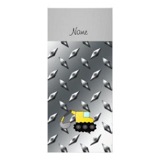Placa de aço do diamante conhecido feito sob 10.16 x 22.86cm panfleto