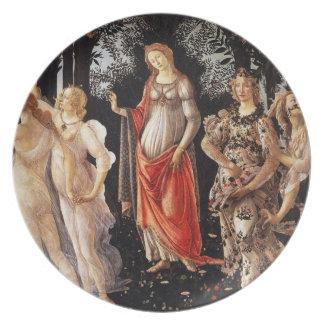 Placa de Botticelli Primavera Pratos De Festas
