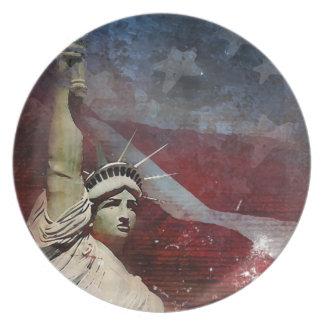 Placa de comensal feita sob encomenda da estátua d prato