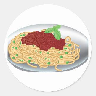 Placa de etiquetas dos espaguetes