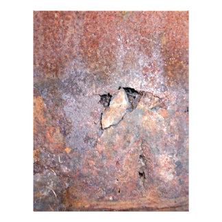 Placa de metal danificada com textura da oxidação panfletos personalizado
