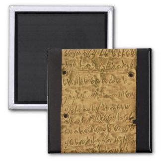 Placa de ouro com inscrição do Phoenician, do papa Imas