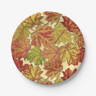 Placa de papel clássica de folhas de outono