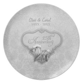 Placa do aniversário de casamento do Calla de Louças De Jantar