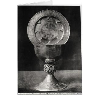 Placa do cálice e do Eucaristia Cartão Comemorativo