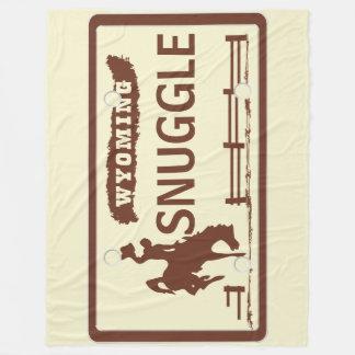 Placa do estado de Wyoming Cobertor De Velo