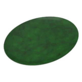 Placa do verde do Natal do teste padrão do vintage Prato De Festa