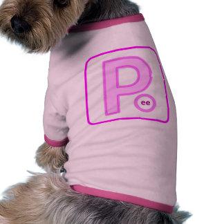 Placa do xixi camisas para cães