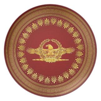 Placa imperial romana de Eagle Prato De Festa
