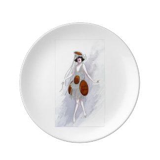 Placa instantânea do gengibre louça de jantar
