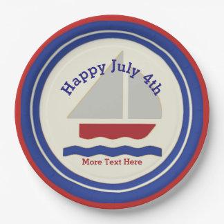 Placas de papel do 4 de julho náutico
