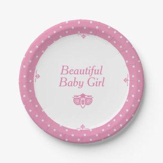 Placas de papel do bebé bonito prato de papel
