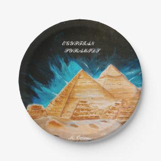 Placas de papel do estilo egípcio da pirâmide