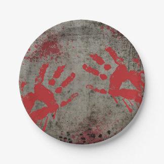 Placas de papel do partido do apocalipse do zombi prato de papel