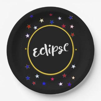 Placas de papel do partido do eclipse