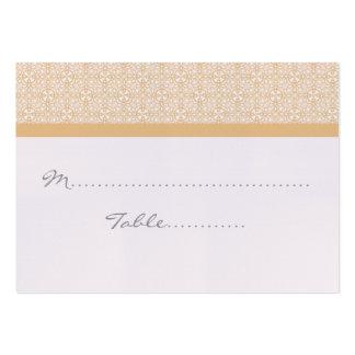 Placecard Wedding chique refinado Cartão De Visita
