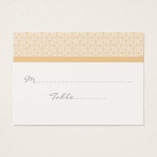 Placecard Wedding chique refinado Cartão De Visitas