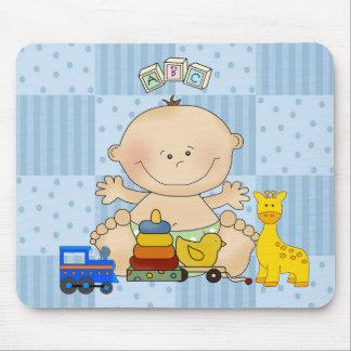Placemat para bebés, bebê e brinquedos mouse pad