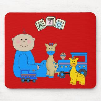 Placemat para o vermelho 3 dos bebés do bebê e do mouse pads