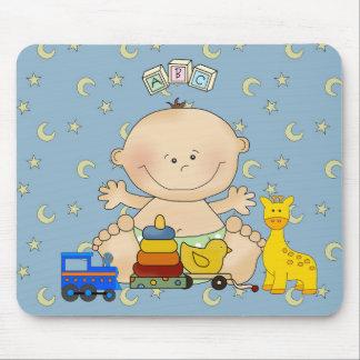 Placemat para os bebés o bebê e os brinquedos 2 mouse pads
