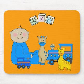Placemat para os bebés, o bebê e os brinquedos 3 mousepad