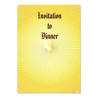 Plafond amarelo convite 12.7 x 17.78cm