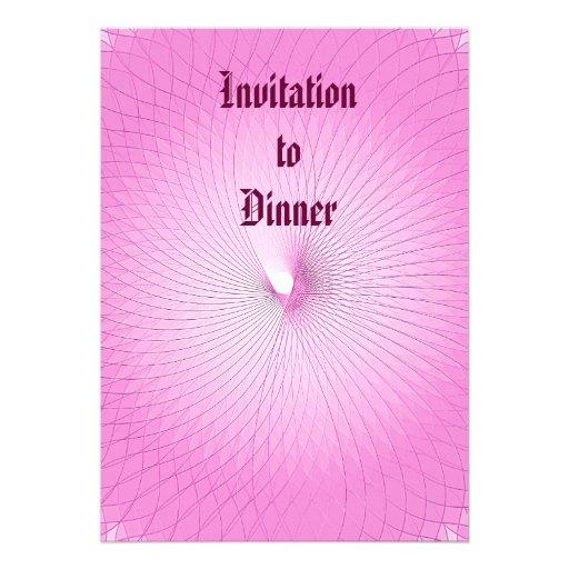 Plafond cor-de-rosa convites personalizados