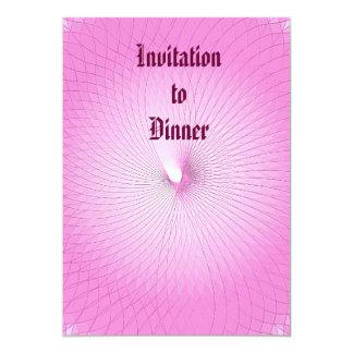 Plafond cor-de-rosa convite 12.7 x 17.78cm