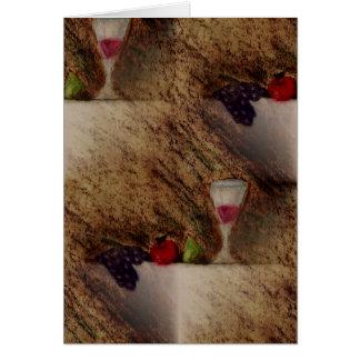 Plaisirs frutifica produtos múltiplos cartão comemorativo