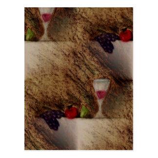 Plaisirs frutifica produtos múltiplos cartão postal