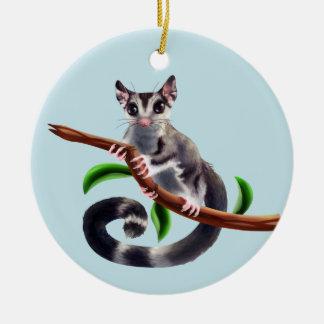 planador do açúcar em um ornamento do ramo