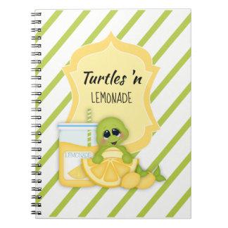 Planejador 4 do caderno da listra dos limões da