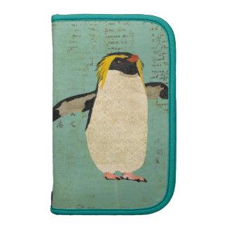Planejador azul da lagoa do pinguim organizador