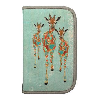 Planejador Azure & ambarino do vintage dos girafas Agendas