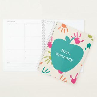 Planejador colorido do professor de Apple