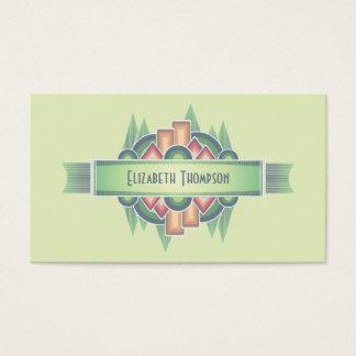Planejador de evento colorido do art deco cartão de visitas