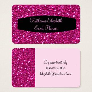 Planejador de evento Glam do brilho Sparkly do Cartão De Visitas