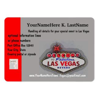 Planejador do viagem de Las Vegas Cartão De Visita Grande
