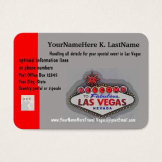 Planejador do viagem de Las Vegas Cartão De Visitas