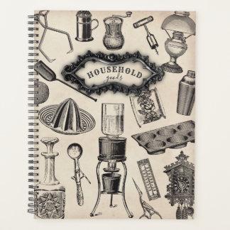 Planejador dos bens domésticos do vintage